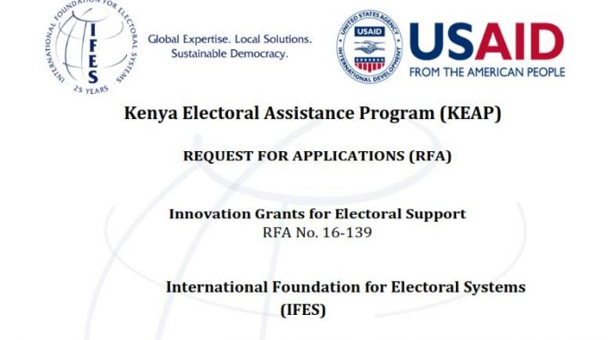Request For Application: Kenya Electoral Assistance Program Innovation Grants For Electoral Support