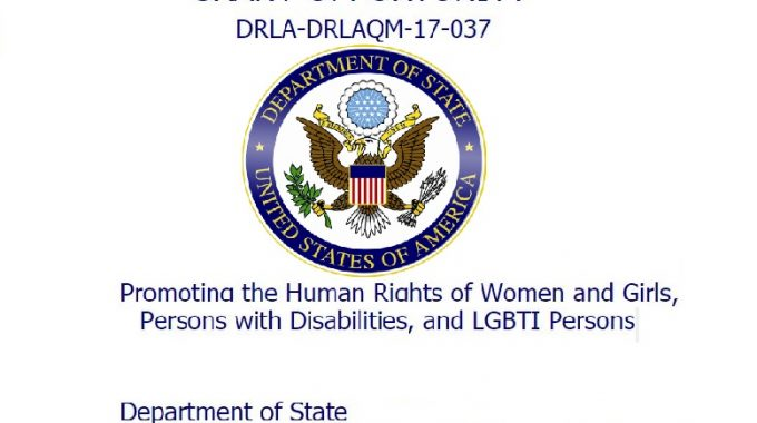 Notice Of Funding Opportunity (NOFO): Bureau Of DRL- Promoting The Human Rights Of Women And Girls, Persons With Disabilities And LGBTI Persons