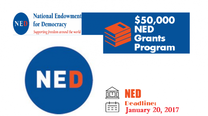 Apply For National Endowment For Democracy (NED) Grants Program-Supporting Freedom Around The World