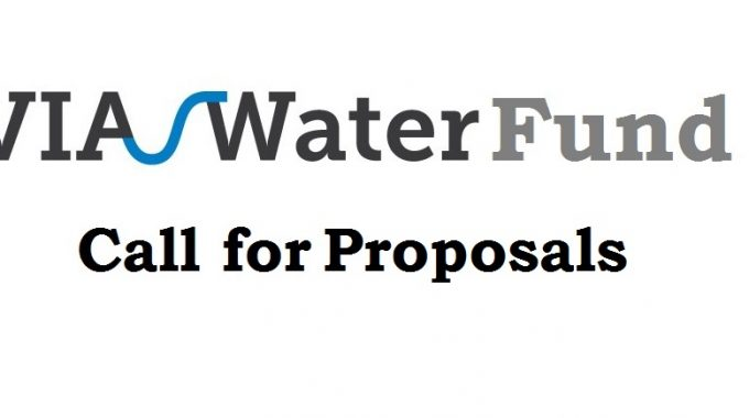 Apply For VIA Water-Fund Supporting Innovative Solutions To Water Problems