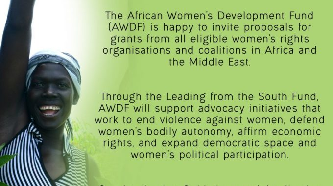 Call For Proposals: AWDF's Leading From The South Programme In Africa