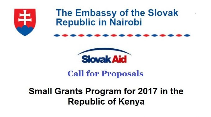 Small Grants Program For 2017 In Kenya By Embassy Of The Slovak Republic
