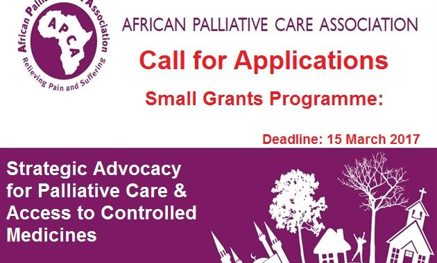 Small Grants Programme: Strategic Advocacy For Palliative Care & Access To Controlled Medicines