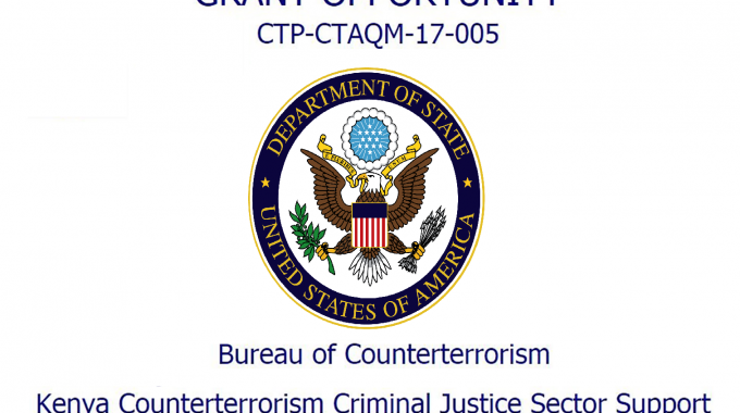 Notice Of Funding Opportunity: Kenya Counterterrorism Criminal Justice Sector Support