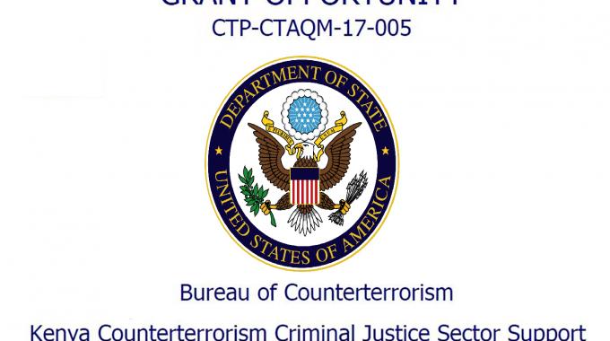 Notice Of Funding Opportunity: Kenya Counterterrorism Criminal Justice Sector Support