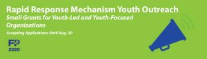 RFA: FP2020's Rapid Response Mechanism Youth Outreach Small Grants