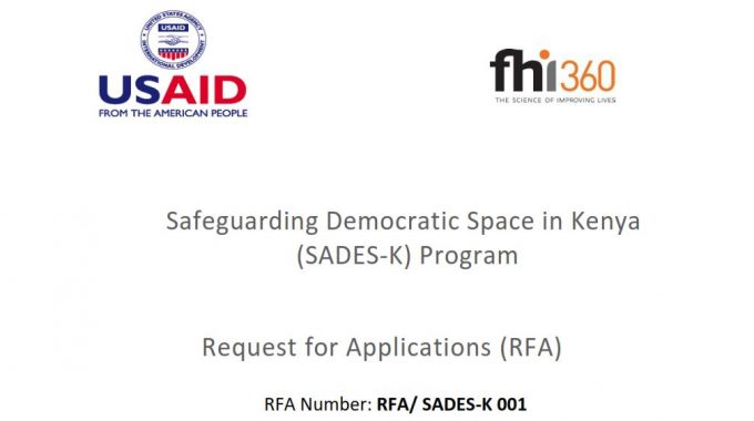 Request For Applications: Safeguarding Democratic Space In Kenya (SADES-K) Program
